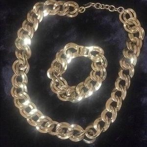 Vintage Monet Necklace/ Bracelet Set